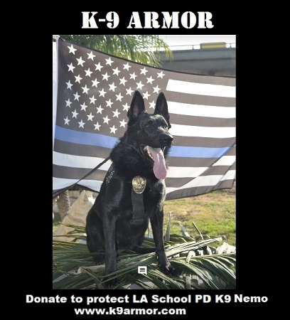 Donate to protect Los Angeles Unified School Police K9 Nemo