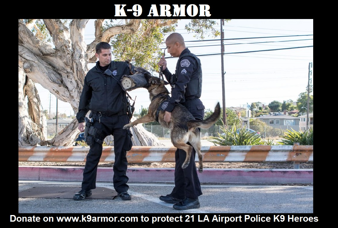 Donate to protect 21 Los Angeles Airport Police K9 Heroes