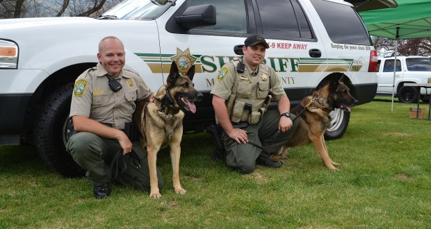 Deputy-Brian-Lunquist-with-K9-partner-Arthur-and-Deputy-Charman-with-K9-partner-Zeus-photo-by-Gina-Clugston