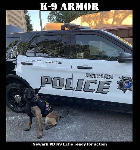 Newark PD K9 Echo ready for action in his K9 Armor bulletproof vest