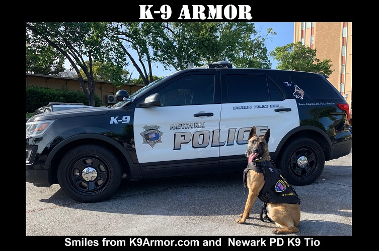 Smiles from Newark PD K9 Tio