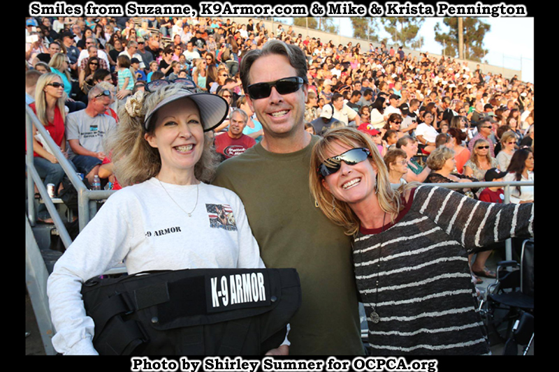 Smiles from Suzanne Saunders, K9Armor.com and Mike and Krista Pennington who donated for over 10 vests