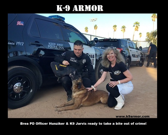 Thanks to donations at the OCPCA K9 Benefit Show to protect Brea PD K9 Jarvis