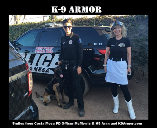 Thanks to donations at the OCPCA K9 Benefit Show to protect Costa Mesa PD K9 Aran and Bodi