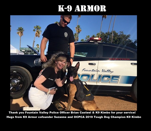 Thanks to donations at the OCPCA K9 Benefit Show to protect Fountain Valley PD K9 Kimbo