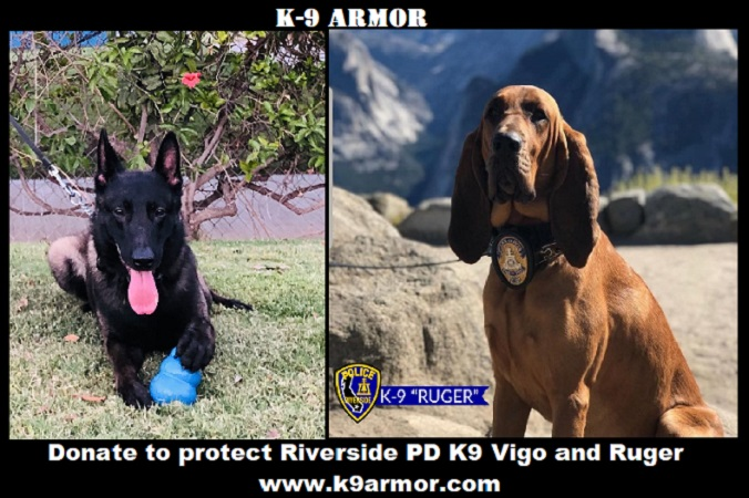 Donate to protect Riverside Police K9 Vigo and K9 Ruger
