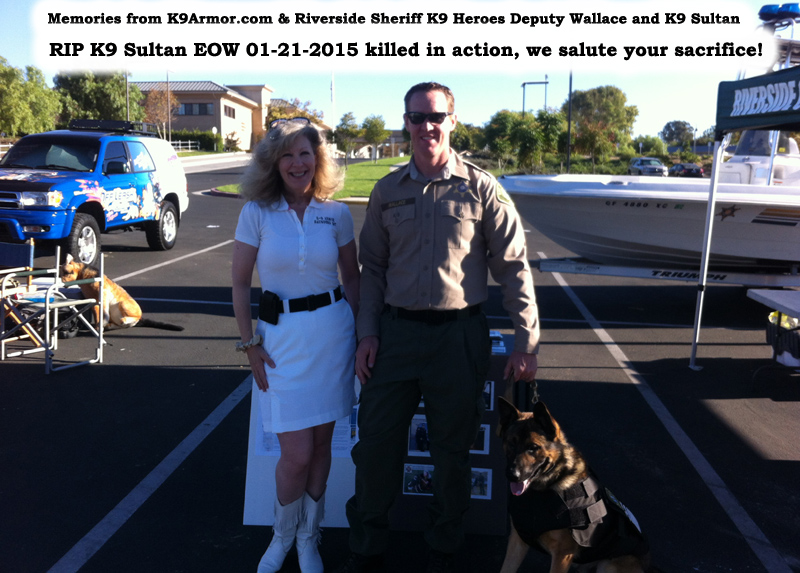 Thank you Todd Zervas for donating to protect two Riverside K9 Heroes Chico and Sultan