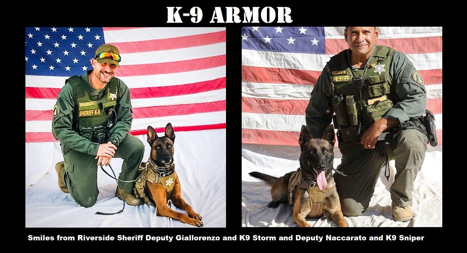 Donate to protect Riverside Sheriff Deputy Giallorenzo for K9 Storm and Deputy Richard Naccarato for K9 Sniper