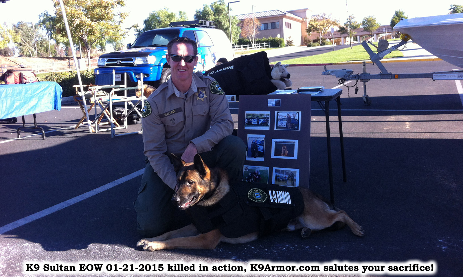 Riverside Sheriff - San Jacinto PD Officer Mark Wallace and K9 Sultan EOW 01-21-2015