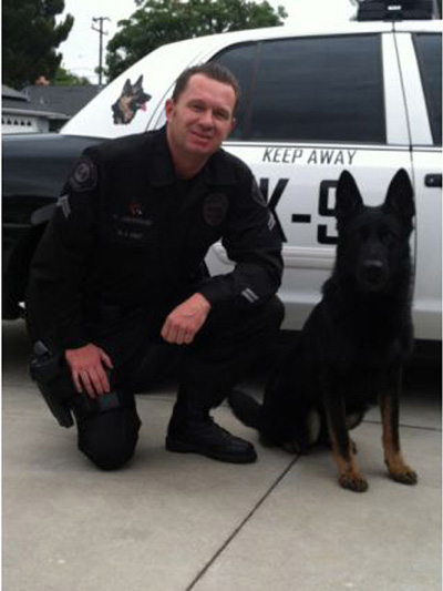 OCPCA President, Placentia PD Officer Chris Anderson and K9 Habo