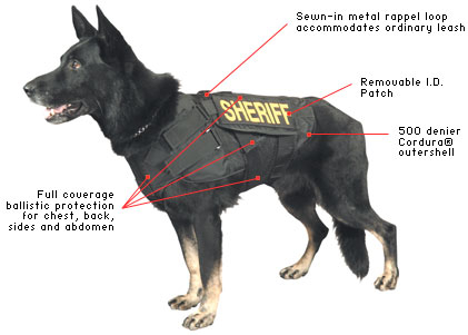 K-9 Armor vest made by Point Blank, Supplied to us by Banner Uniform